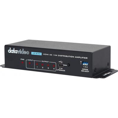 1x4 4K HDMI 信号分�配放大器