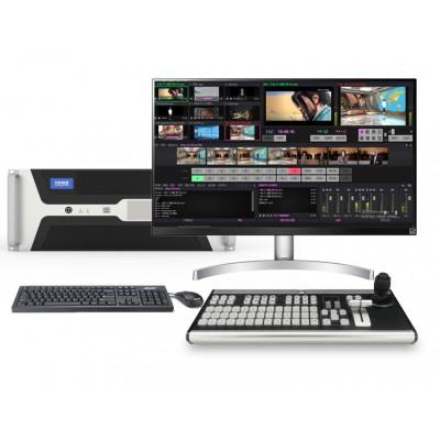 4K融媒体真三维虚拟演播室系统软件调音台一体机