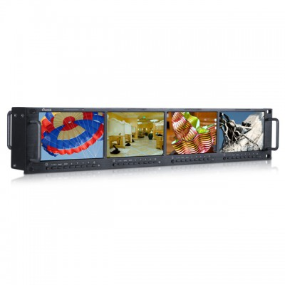 标准机柜高清四联监视器