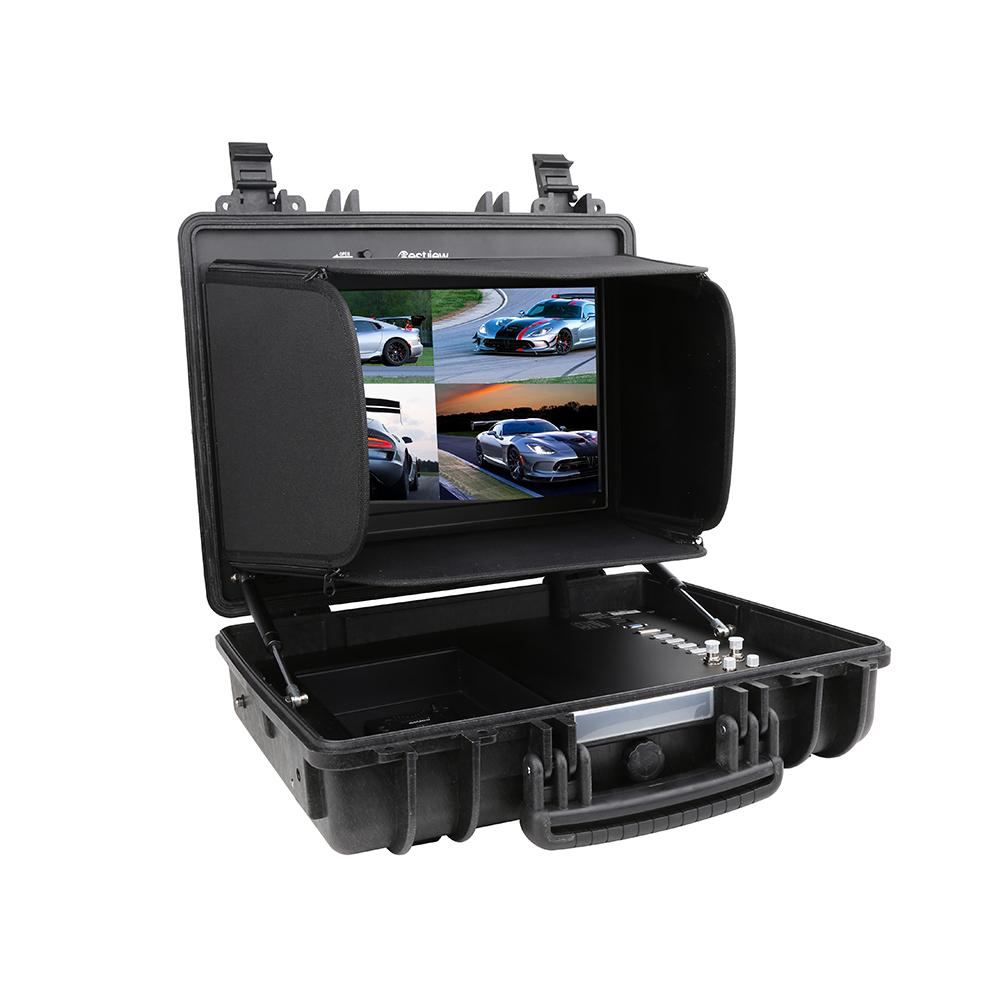 百视悦17.3寸4K四画面HDMI SDI便携箱载式监视器