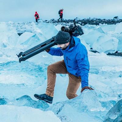 萨拿沙雀Sachtler flowtech 75碳纤维三脚架摄影摄像快速架设拍鸟