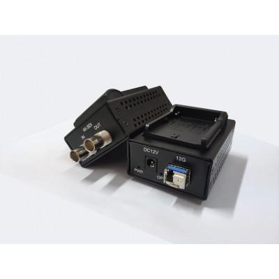 广电专用单路超高清4K-SDI视频光端机,延长器,12G传输