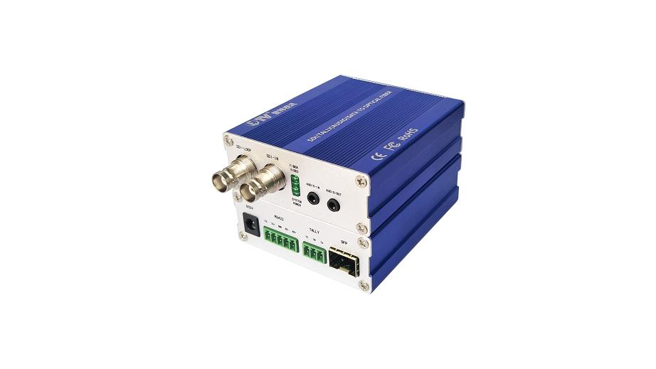 广电专用多业务3G-SDI视频光端机,延长器,过病态码,导播功能