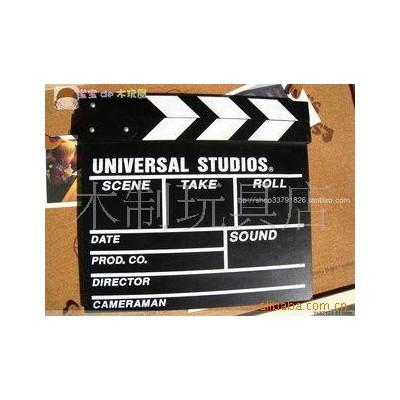电影放映设备-木制电影拍板 电影拍板 场记板 木制场记