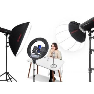 LR-480C18寸LED环形灯直播补光灯网红主播美颜摄影摄像灯-自拍抖音常亮灯