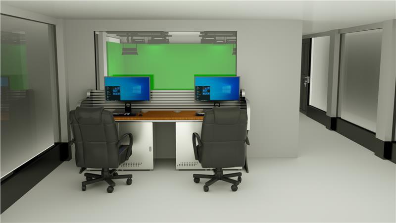 虚拟演播室灯光系统布局
