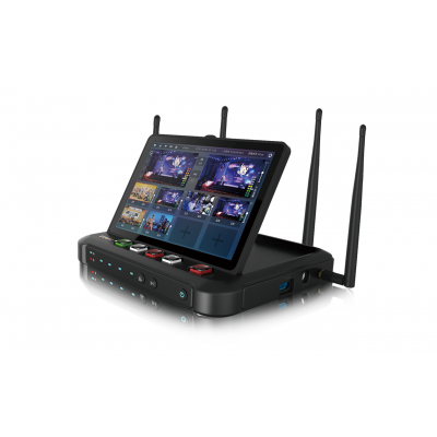 Ucast R8八路导播切换台2路HDMI+2路SDI一体机+4G聚合年会网络直播高清视频编码器导播机