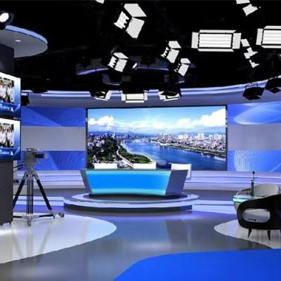电视省台虚拟演播室融媒体中心装修