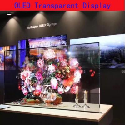 55寸触摸透明屏广告机65寸透明液晶屏厂家定制