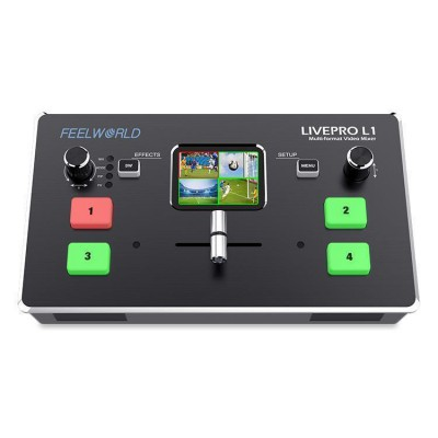 富威德FEELWORLD LIVEPRO L1 HD 4 通道多机位现场制作视频切换台 4路HDMI 输入 USB3.0 流媒体直播