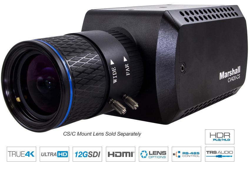 Marshall CV420-CS 微型 4K60+HDR 12G 摄像机