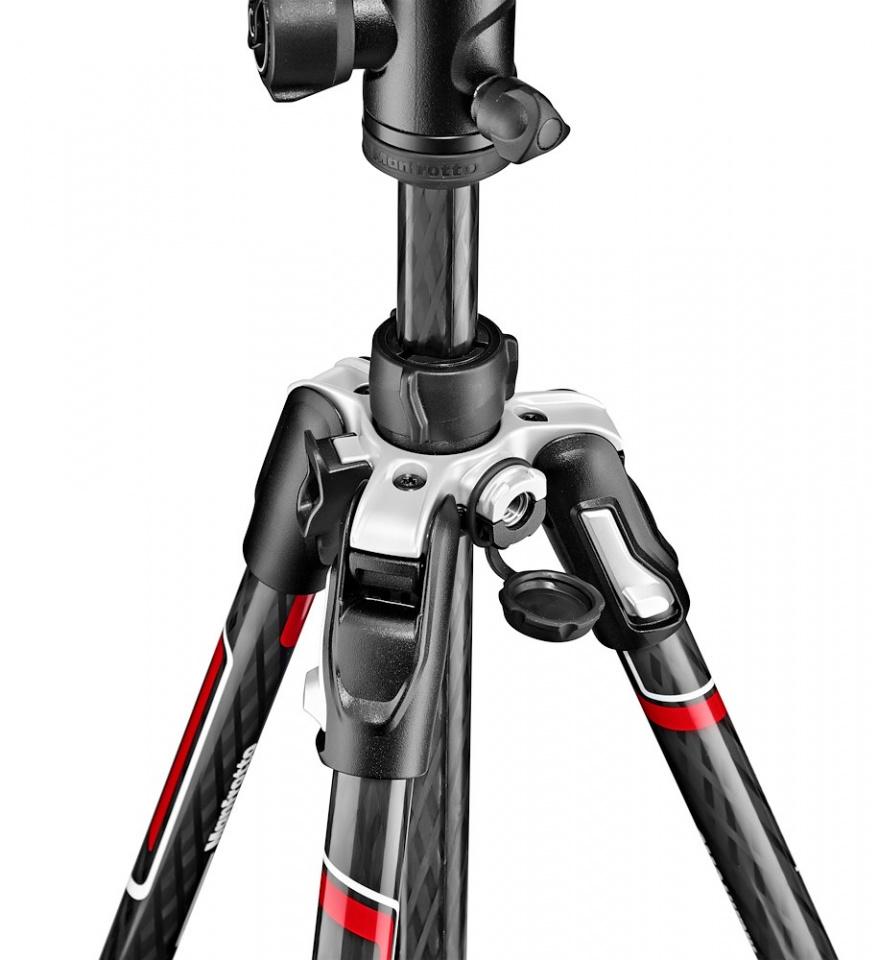曼富图 befree Advanced 碳纤维三脚架套装 旅行反折 MKBFRTC4-BH